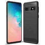 Flexi Carbon Fibre Texture Case for Samsung Galaxy S10 - Brushed Black